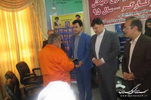 جشن روز کارگر با تشکر از چند کارگر نمونه در شهرداری گالیکش برگزار گردید