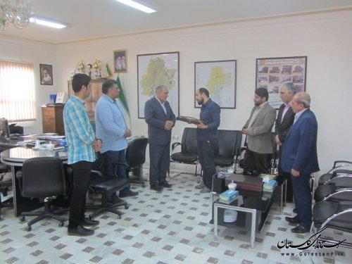 دیدار شهردار گنبدکاووس با مسئولین مجموعه فرهنگی مذهبی فاطمیون