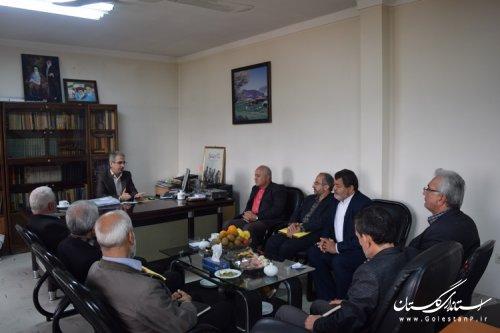 دیدار بازرسان هیات نظارت شورای نگهبان استان انتخابات با فرماندار کردکوی