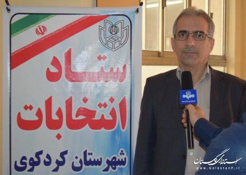 75 شعبه اخذ رای در مرحله دوم در حوزه انتخابیه کردکوی