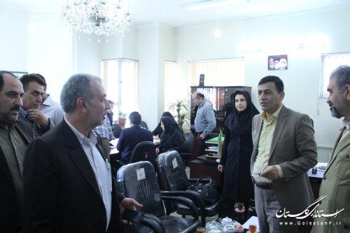 بازدید رییس ستاد انتخابات شهرستان گرگان از کمیته های هفت گانه