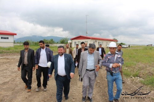بازدید فرماندار و مدیرکل دفتر فنی استان گلستان از تصفیه خانه شهرستان آزادشهر