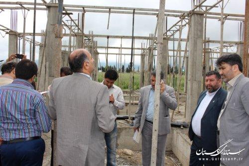 فرماندار آزادشهر از ساختمان در حال احداث شبکه بهداشت و درمان شهرستان بازدید کرد