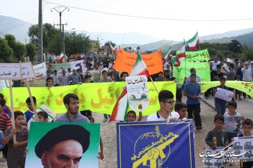 راهپیمایی باشکوه روز قدس بخش لوه در صادق آباد برگزار شد