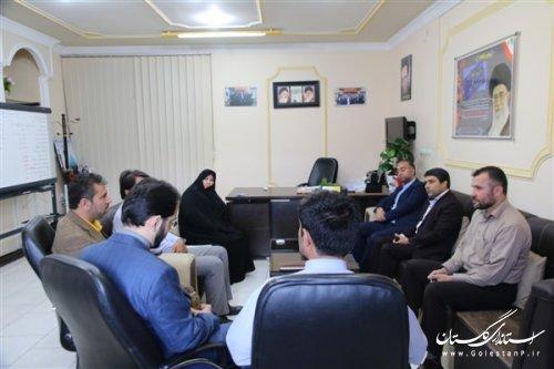 دیدار نماینده مردم رامیان وآزادشهر درمجلس شورای اسلامی بامدیرکل بهزیستی