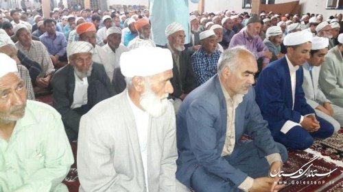 حضور بخشدار در نماز تراویح و مراسم ختم قرآن کریم روستای گلیداغ