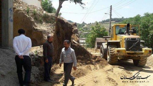بازدید بخشدار گلیداغ از پروژهای عمرانی روستای پلی سفلی