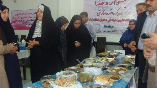 حضور مدیرکل بانوان گلستان درجشنواره غذا دانشکده فنی و حرفه ای دختران مائده گرگان