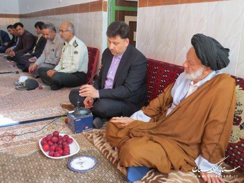 دیدار فرماندار و مسئولین ادارات با امام جمعه شهرستان گالیکش