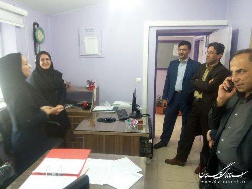 بازدید معاون مدیردرمان تامین اجتماعی استان گلستان از درمانگاه علی آباد کتول