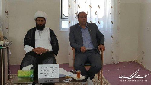 دیدار بخشدار کوهسارات با امام جمعه به مناسبت هفته دولت