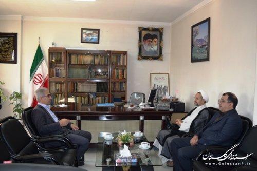 دیدار مدیر کل فرهنگ وارشاد اسلامی استان با فرماندار کردکوی