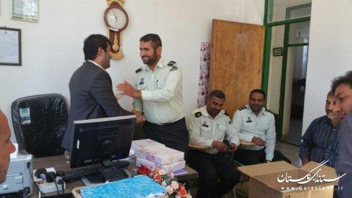 تجلیل بخشدار مرکزی گالیکش از پرسنل پاسگاه نیلکوه