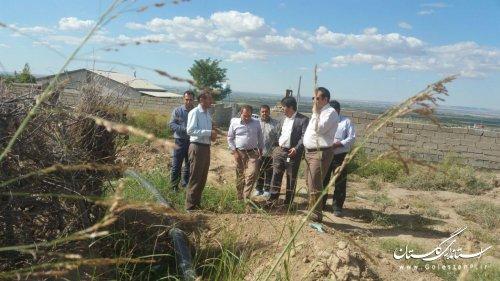 بازدید بخشدار مرکزی گالیکش از وضعیت آب شرب روستای قلی تپه
