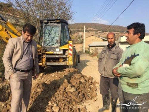 بازدید بخشدار مرکزی گالیکش از روستاهای فرنگ و پادل دل