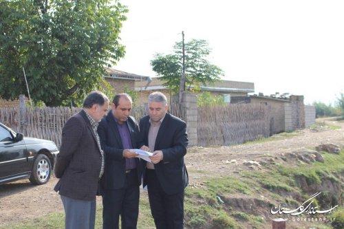 بازدید از روستاهای بخش مرکزی شهرستان آزادشهر توسط سرپرست بخشداری