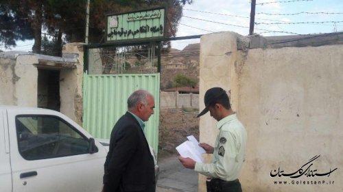 بازدید بخشدار گلیداغ از پاسگاه انتظامی عرب قره حاجی