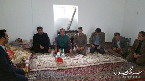 دیدار بخشدارمرکزی گالیکش وسایرمسوولان شهرستان با خانواده شهدا