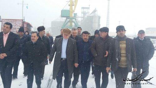 بازدید هیأت اقتصادی استان گلستان از بندر تجاری آکتائو قزاقستان