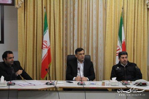 جلسه شورای ترافیک شهرستان گرگان برگزار شد