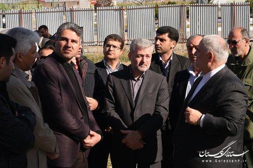 بازدید استاندار گلستان از پروژه های درحال ساخت فرودگاه بین المللی گرگان
