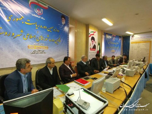 بازدید استاندار گلستان از ستاد انتخابات استان