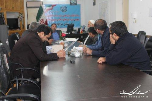 برگزاری چهاردهمین جلسه ستاد انتخابات شهرستان مراوه تپه