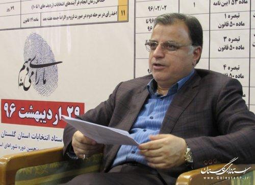 پیام قدردانی رئیس ستاد انتخابات استان از حضور پرشور مردم در انتخابات