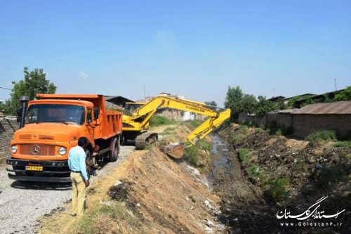 آغاز عملیات لایروبی رودخانه کبودوال