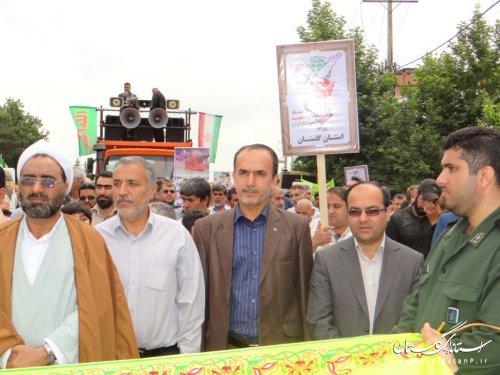 حضور حماسی مردم ولایتمدار فاضل آباد در راهپیمایی روز قدس(گزارش تصویری)