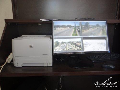 رصد تخلفات رانندگی در اتاق مانیتورینگ شهرداری فاضل آباد