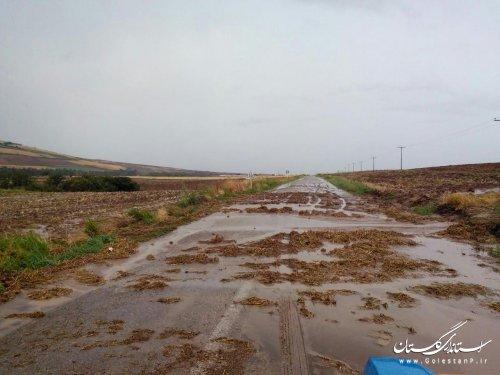 سیلاب کلاله را غرق آب کرد/ بارش 52 میلی متر در 3 ساعت