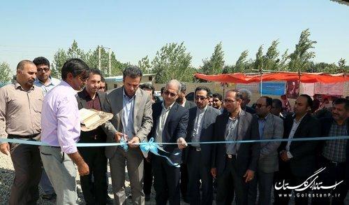مخزن 5 هزار متر مکعبی و یک حلقه چاه شرب در شهرستان کردکوی افتتاح شد