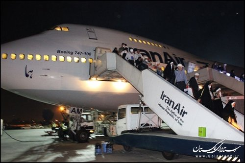 بازگشت آخرین گروه از زائران حج تمتع 96 استان گلستان