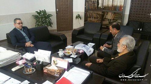 دیدار مدیر کل کانون پرورش فکری کودکان و نوجوانان استان با شهردار نوده خاندوز