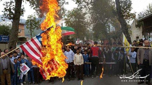 راهپیایی 13 آبان در نوده خاندوز
