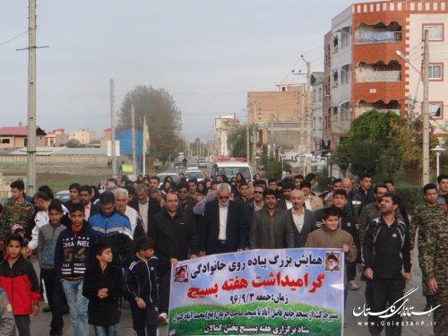 همایش پیاده روی خانوادگی در فاضل آباد برگزار شد
