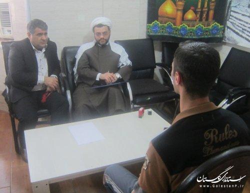 دیدار معاون دادستان مرکز استان گلستان با زندانیان گرگانی