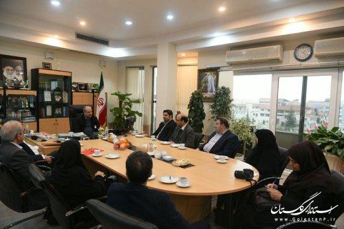 دیدار رئیس فدراسیون ووشو با استاندار گلستان