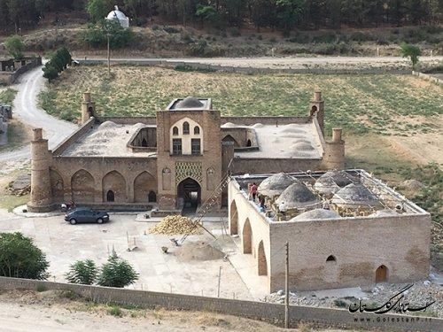 اتمام عملیات فاز یک پروژه مرمت و ساماندهی پوشش سقف گنبدی مسجد تاریخی سید قلیچ ایشان(کریم ایشان)