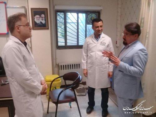 بازدید مدیر درمان گلستان از درمانگاه شبانه روزی علی آباد کتول