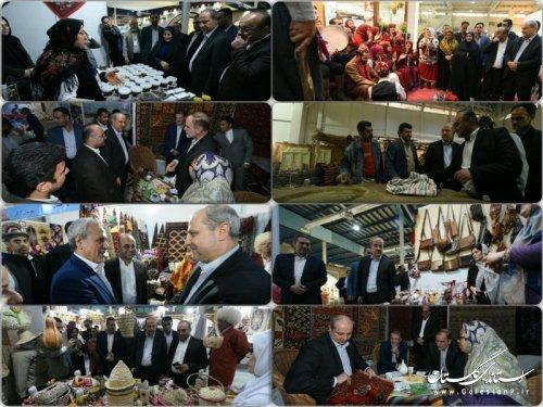 حضور استاندار گلستان در نمایشگاه توانمندی های روستاییان و عشایر کشور /تصاویر