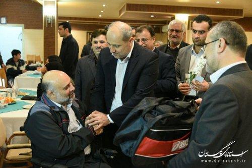دیدار استاندار گلستان با جانبازان جنگ تحمیلی