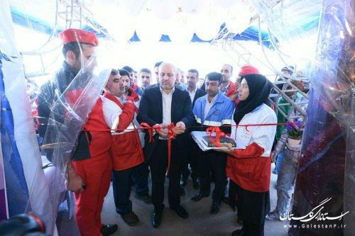 کمپ های ایمنی و سلامت نوروزی جمعیت هلال احمر استان افتتاح شد