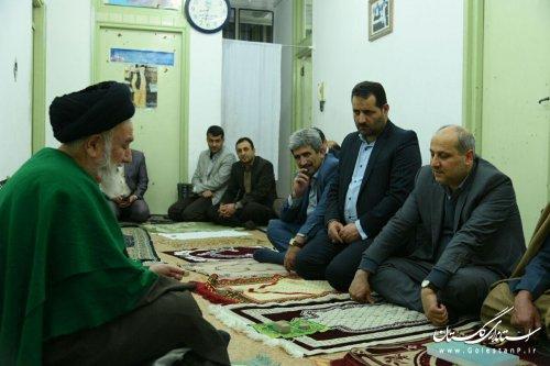 دیدار استاندار گلستان با آیت ا... حسینی شاهرودی نماینده مردم در مجلس خبرگان رهبری