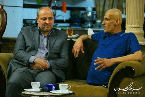 دیدار استاندار گلستان با جانباز 70 درصد دفاع مقدس