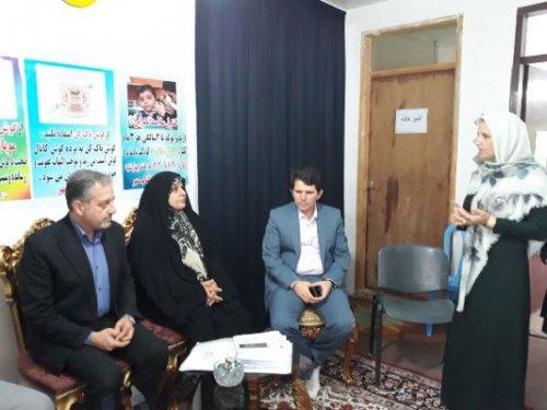 مدیر کل بانوان گلستان از تشکل غیر دولتی مجتمع آفتاب مهر شهرستان مراوه تپه بازدید کرد