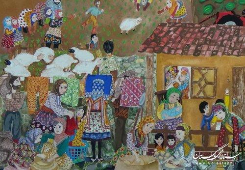 نوجوان گلستانی در مسابقه بینالمللی نقاشی کشور بلاروس افتخارآفرین شد