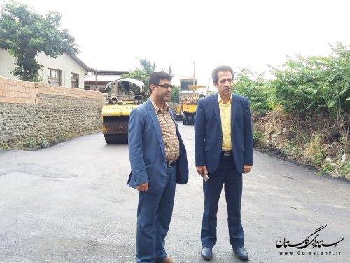 بازدید سرپرست شهرداری و رئیس شورای اسلامی شهر کردکوی از پروژه آسفالت