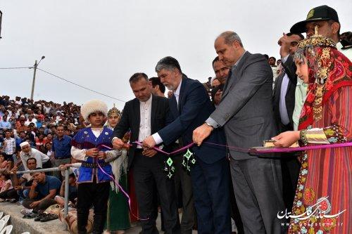 افتتاح مجموعه ورزشی روباز مختومقلی فراغی در مراوه تپه